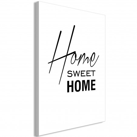 Tablou Black And White: Home Sweet Home (1 Part) Vertical 40 cm x 60 cm-01