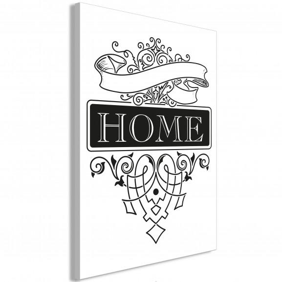 Tablou Home (1 Part) Vertical 40 cm x...
