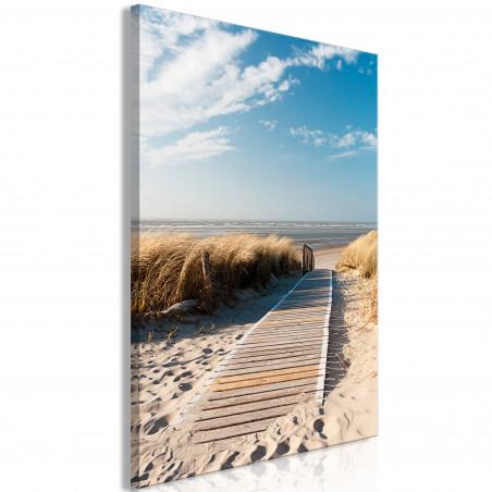 Tablou Lonely Beach (1 Part) Vertical 60 cm x 90 cm-01