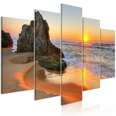 Tablou Meeting At Sunset (5 Parts) Wide 100 cm x 50 cm-01