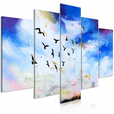 Tablou Autumn Is Coming (5 Parts) Wide 100 cm x 50 cm-01