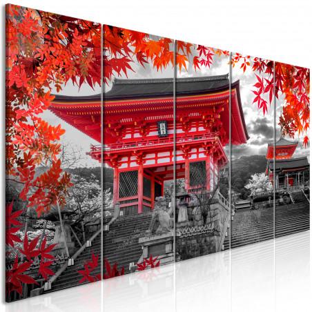 Tablou Kyoto, Japan (5 Parts) Narrow 200 cm x 80 cm-01
