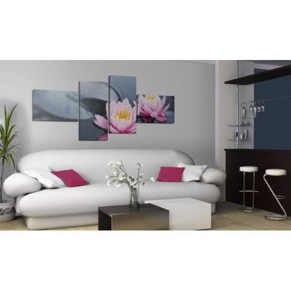 Tablou The Tranquillity Of The Lilies 100 cm x 45 cm naturlich.ro
