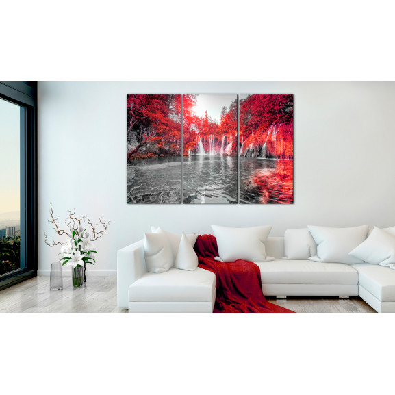 Tablou Waterfalls Of Ruby Forest 120 cm x 80 cm naturlich.ro