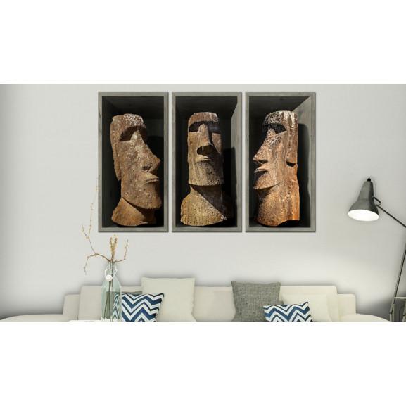 Tablou Moai (Easter Island) 120 cm x 80 cm naturlich.ro