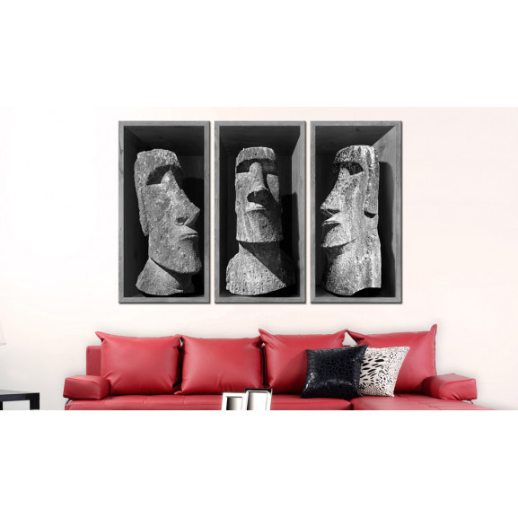 Tablou The Mystery Of Easter Island 120 cm x 80 cm naturlich.ro