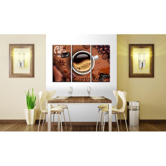 Tablou Cup Of Hot Coffee 120 cm x 80 cm naturlich.ro