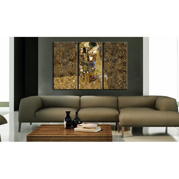Tablou Klimt Inspiration Kiss 120 cm x 80 cm naturlich.ro