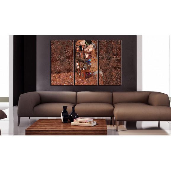 Tablou Klimt Inspiration The Color Of Love 120 cm x 80 cm naturlich.ro