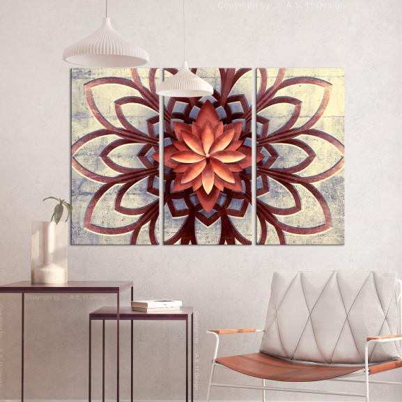 Tablou Fan (3 Parts) 120 cm x 80 cm naturlich.ro