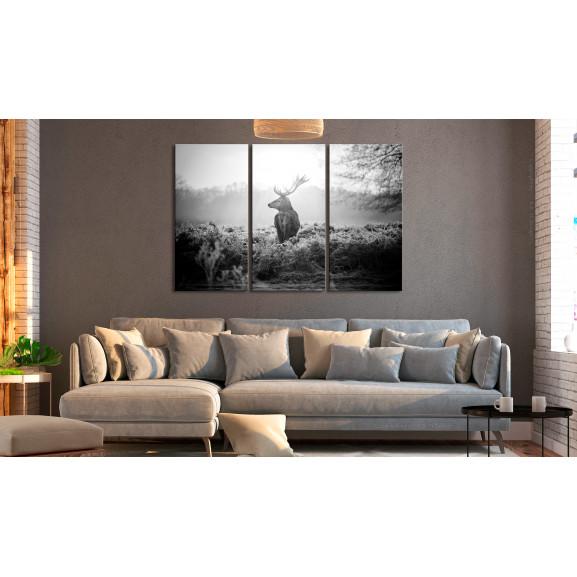 Tablou Black And White Deer I 120 cm x 80 cm naturlich.ro