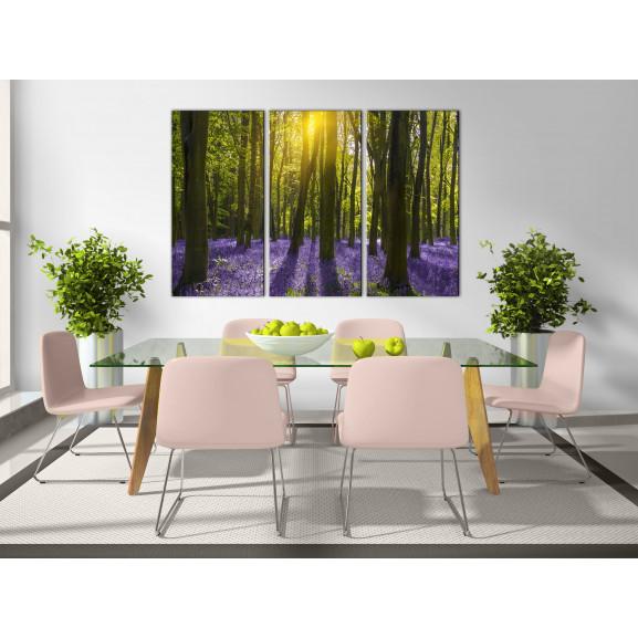 Tablou Hyacinth Field (3 Parts) 120 cm x 80 cm naturlich.ro