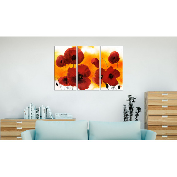 Tablou Sunny Afternoon And Poppies 120 cm x 80 cm naturlich.ro