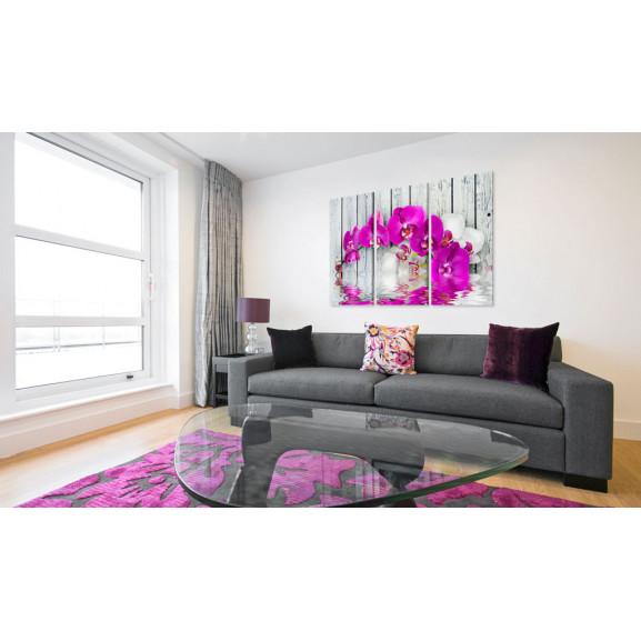 Tablou Harmony: Orchid Triptych 120 cm x 80 cm naturlich.ro