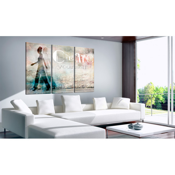 Tablou Create Yourself Triptych 120 cm x 80 cm naturlich.ro
