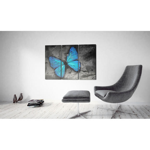Tablou The Study Of Butterfly Triptych 120 cm x 80 cm naturlich.ro