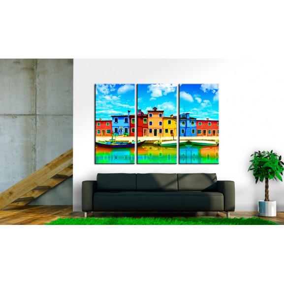 Tablou Sunny Morning In Venice 120 cm x 80 cm naturlich.ro