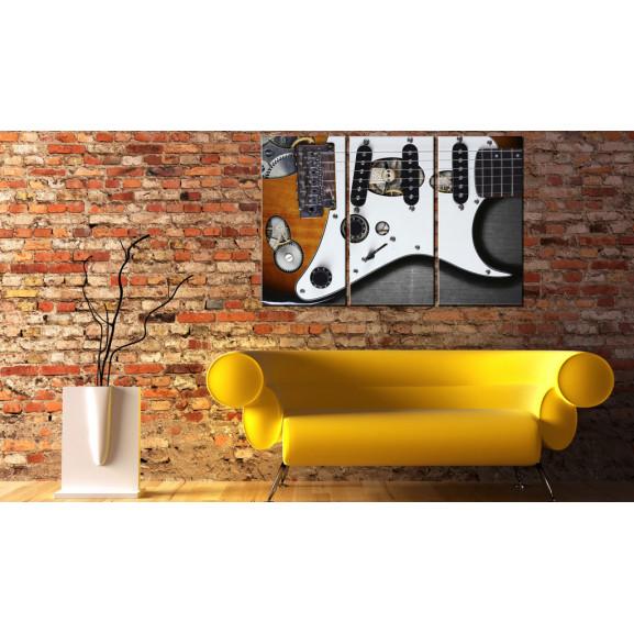 Tablou Guitar Hero 120 cm x 80 cm naturlich.ro