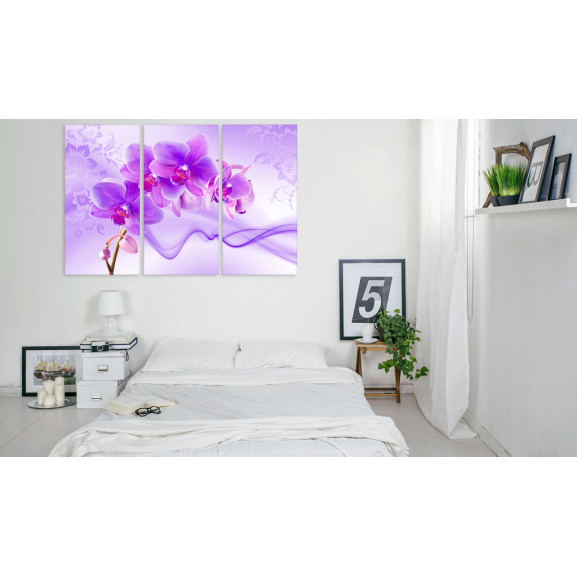 Tablou Ethereal Orchid Violet 120 cm x 80 cm naturlich.ro