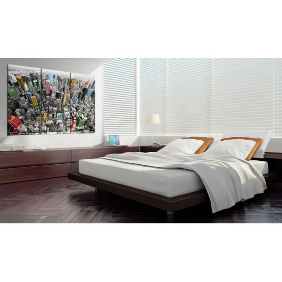 Tablou New York In The Cmyk Color Model 120 cm x 80 cm naturlich.ro