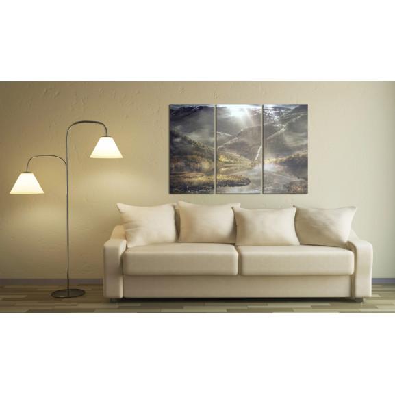 Tablou The Land Of Mists Triptych 120 cm x 80 cm naturlich.ro