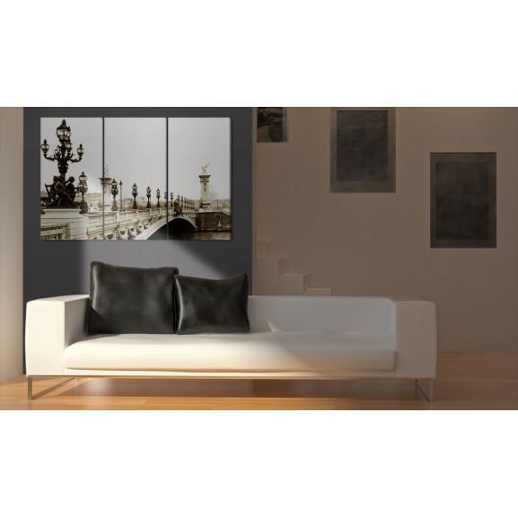 Tablou A Romantic Walk In Paris 120 cm x 80 cm naturlich.ro