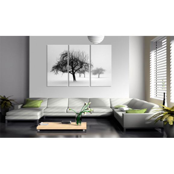 Tablou Trees Submerged In White 120 cm x 80 cm naturlich.ro