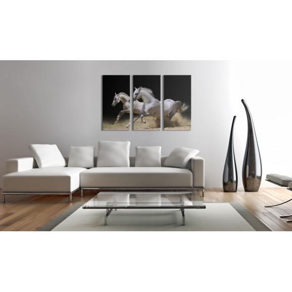 Tablou Horses- Power And Velocity 120 cm x 80 cm naturlich.ro