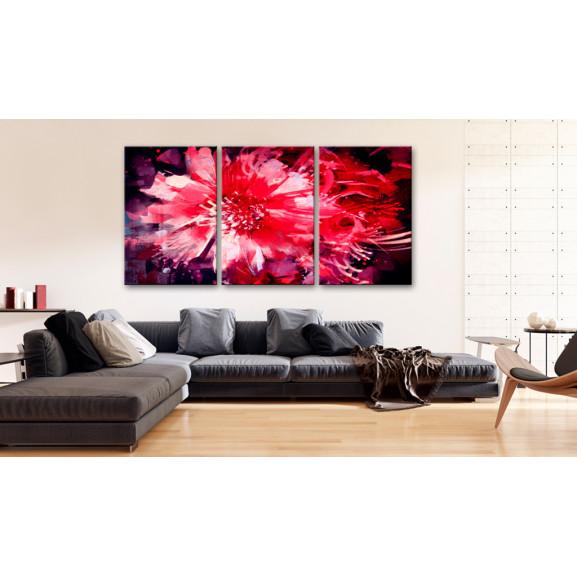 Tablou Crimson Flowers 120 cm x 60 cm naturlich.ro
