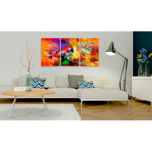 Tablou Colourful Parrot 120 cm x 60 cm naturlich.ro