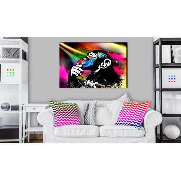 Tablou Monkey Disco 120 cm x 80 cm naturlich.ro