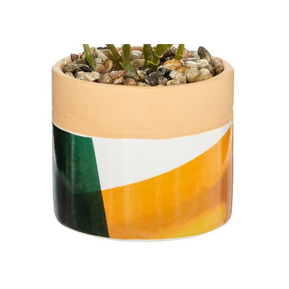 Plante Ghiveci Ceramic Verde/Portocaliu naturlich.ro