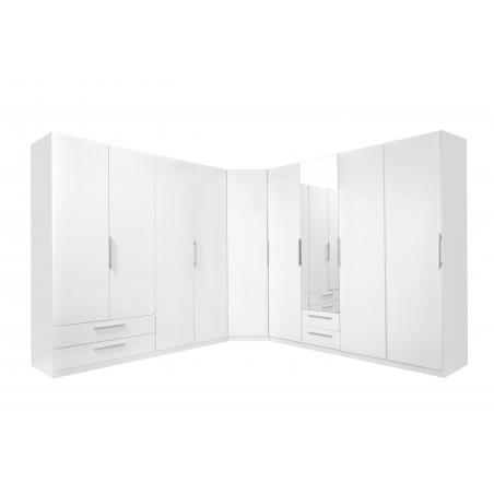 Dulap 2U Cadixo, alb lucios, 1009 x 2129 x 589 mm.-01