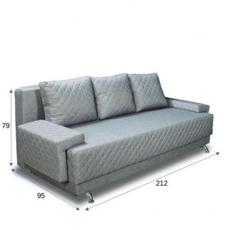 Canapea extensibila KARLA, 2160 x 1000 x 880 mm.-01
