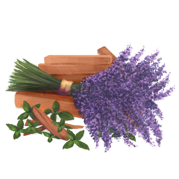 Lumanare Parfumata Lavender, Fresh Mint & Sandalwood naturlich.ro