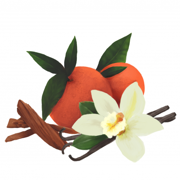 Lumanare Parfumata Orange, Vanilla & Sandalwood naturlich.ro