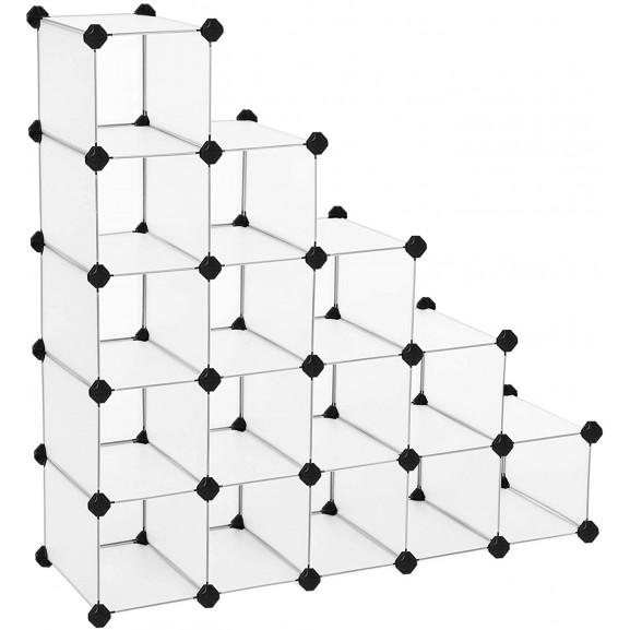 Raft De Depozitare Din Plastic, Alb, 113 x 36 x 113 cm naturlich.ro