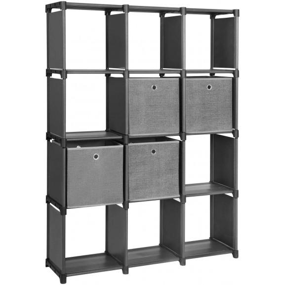 Raft De Depozitare Practical Negru, 105 x 30 x 140 cm naturlich.ro