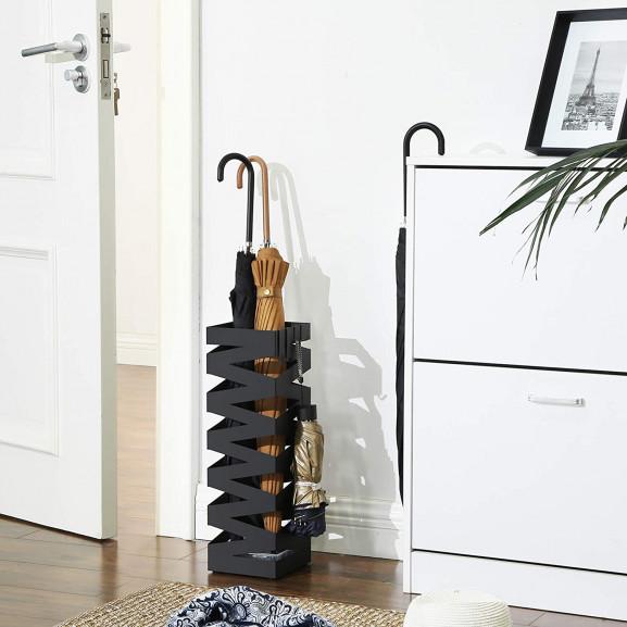 Suport Umbrela Fence Black, 15.5 x 15.5 x 49 cm naturlich.ro