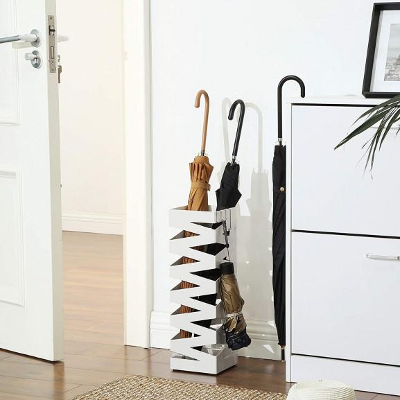 Suport Umbrela Fence White, 15.5 x 15.5 x 49 cm naturlich.ro
