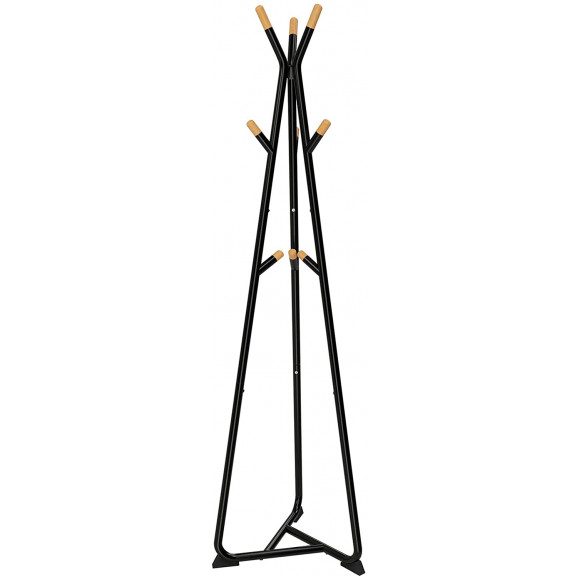 Cuier Haine Trio 3, Negru, 49 x 49 x 172 cm naturlich.ro