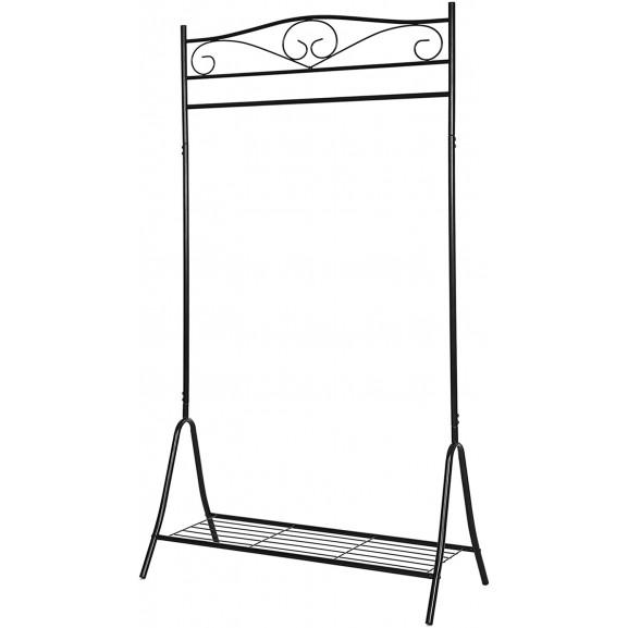 Cuier Haine Iron 2, Negru, 90 x 44.5 x 173 cm naturlich.ro