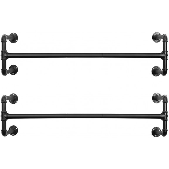 Set cuier metal suspendat, 110 x 30 x 29.3 cm naturlich.ro