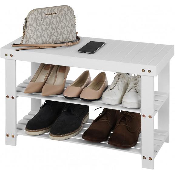 Organizator Pantofi White, 70 x 28 x 45 cm naturlich.ro