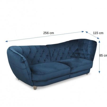 Canapea Retro, Stanga, Albastru, 2560 x 1150 mm.-01