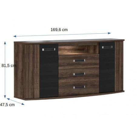 Comoda Rondino, 1696 x 475 x 815 mm.-01