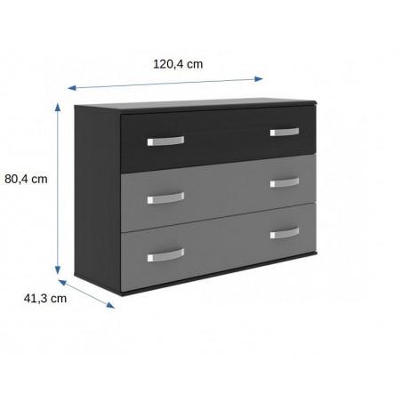 Comoda Delice, Negru, 1204 x 824 x 413 mm.-01