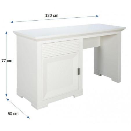 Masa toaleta 1U+1S Verona Bianco, Alb, 1300 x 500 x 770 mm.-01