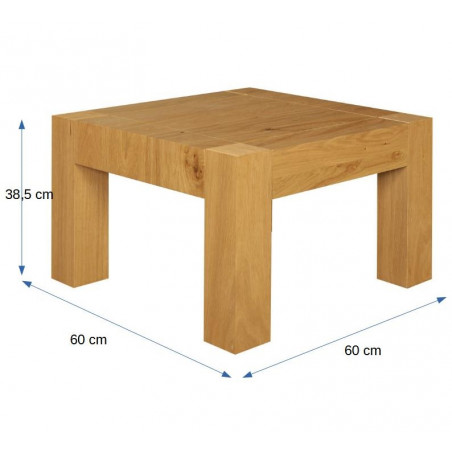 Masa cafea Cube Stejar Natur, 600 x 600 x 385 mm.-01