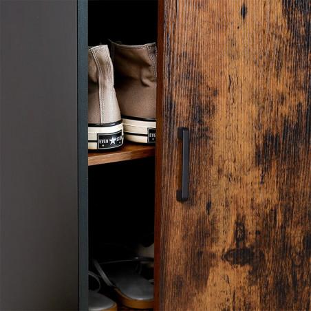 Dulap Incaltaminte Vintage, Maro, 70 x 35 x 100 cm